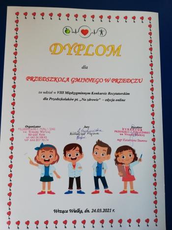Dyplom dla przedszkola